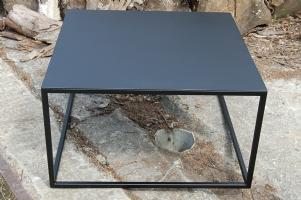 ≥ salontafel zwart metalen onderstel houten blad tafels